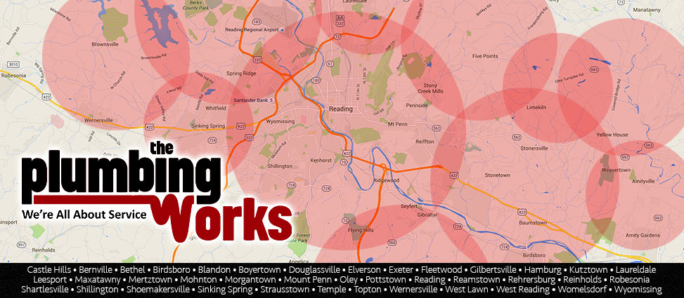 Plumbing Works Map Cities, PA