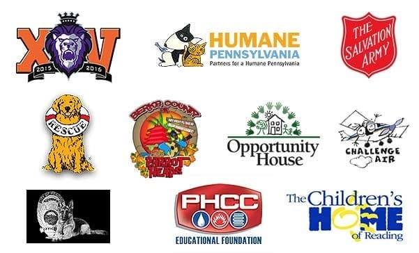 logos various charity partners