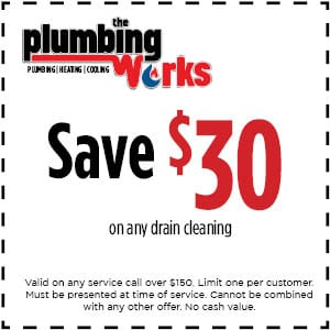 plumbing coupon for drain clenaing