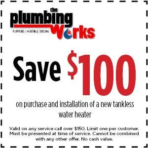 save $100 tankless water repair