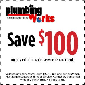 save $100 exterior water service