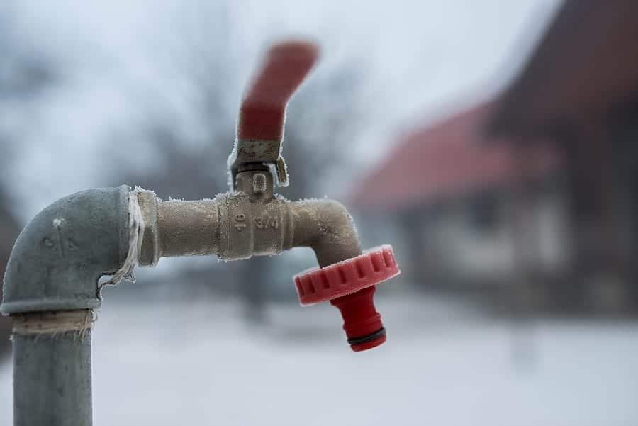 Frozen Garden Water Tap